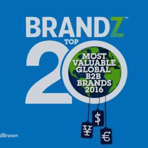 BrandZ Top 20 Most Valuable Global B2B Brands 2016- Countdown