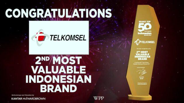 BrandZ Top 50 Most Valuable INDONESIAN Brands  2017  Telkomsel, 2nd Most Valuable Brand
