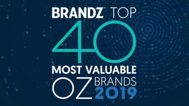 BrandZ Top 40 Most Valuable Australian Brands 2019 – Countdown
