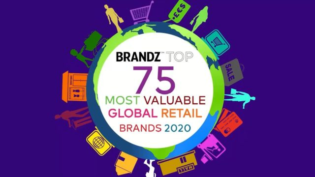 BrandZ Top75 Most Valuable Global Retail Brands 2020 – Countdown